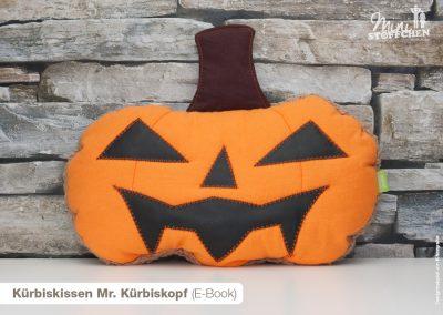 Kürbiskissen Mr. Kürbiskopf (E-Book)