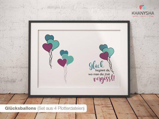 Glücksballons (Set aus 4 Plotterdateien)