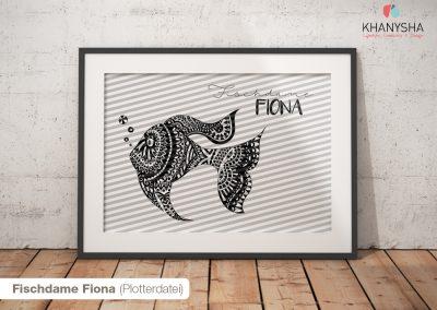 Fischdame Fiona (Plotterdatei)